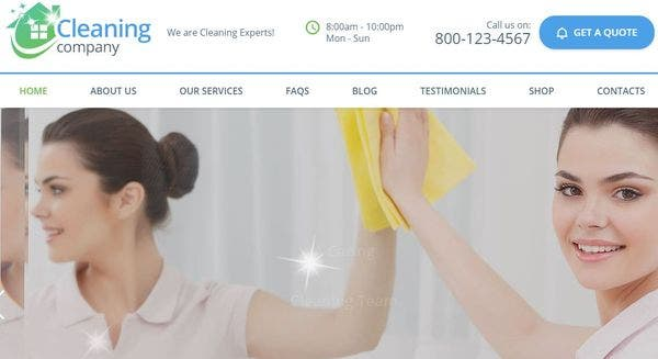 Cleaning Services – HTML5 and CSS3 WordPress Theme