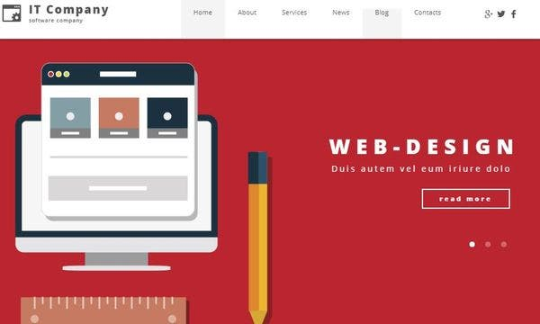 IT Company – Parallax Effect WordPress Theme