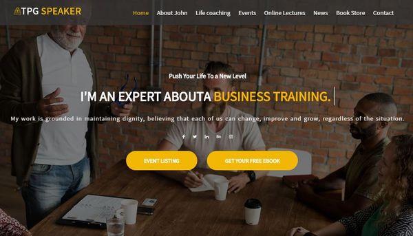 TPG Speaker – Page Builder WordPress Theme