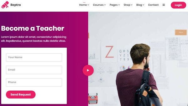 Reptro - Online Course WordPress Theme