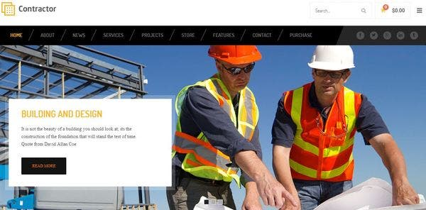 Contractor – Retina Ready WordPress Theme