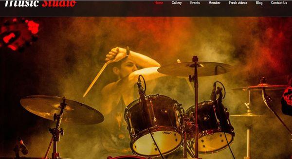 Music Studio- Social Media Integrated WordPress Theme
