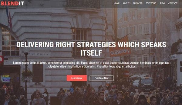 Blendit – Contact Form 7 WordPress Theme