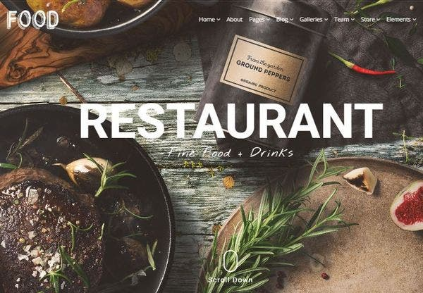 Food – Drag and Drop Page builder WordPress Theme
