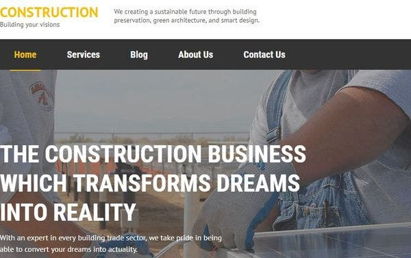 Construction – Typography compatible WordPress Theme