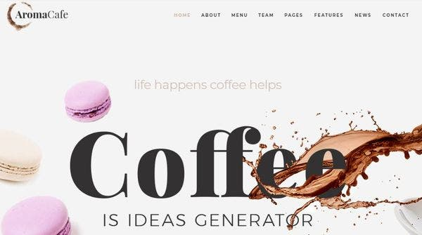 Aromacafe -Elementor page builder Powered WordPress Theme