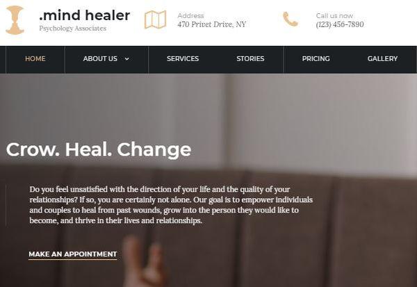 Mind Healer- Easy WP Theme