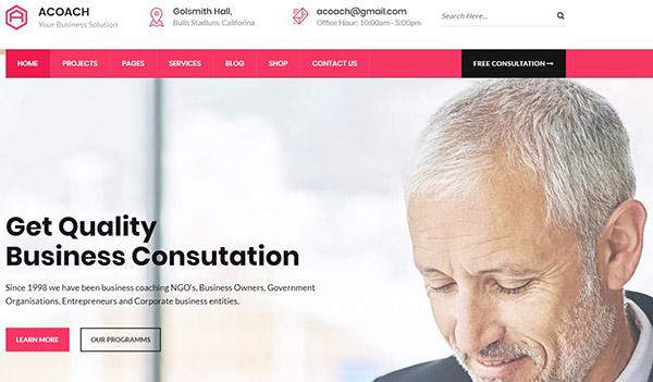 Acoach – Business training and coaching WordPress theme