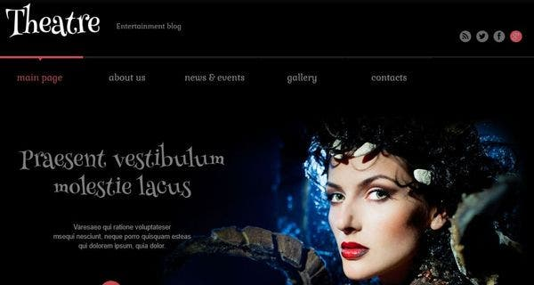 Theater – Search Engine Friendly WordPress Theme