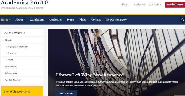 Academica Pro 3.0 – Multipurpose WordPress Theme
