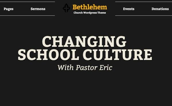 Bethlehem - Slider Revolution WordPress Theme