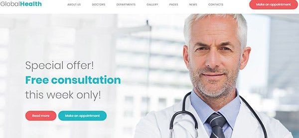 GlobalHealth – Modern WordPress Theme