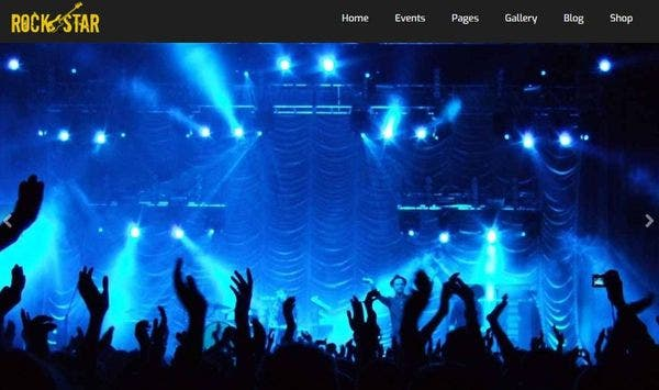 Rockstar – HTML5 and CSS3 WordPress Theme