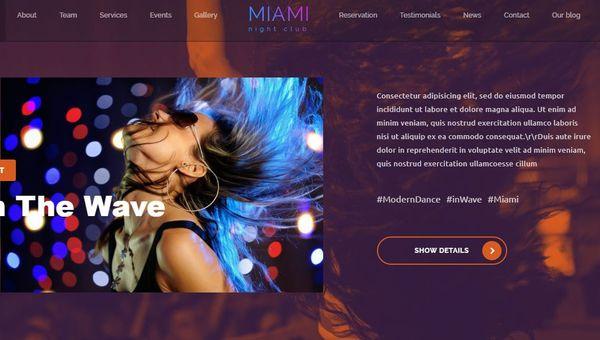 Miami – Recording Studio Compatible WP Theme