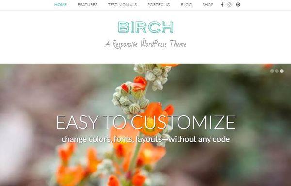 Birch – Slider-Enabled Responsive WordPress Theme