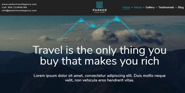 Travel Agency- SMO Optimized WordPress Theme