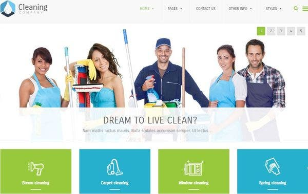 Cleaning Company - Advanced Menu System WordPress Theme