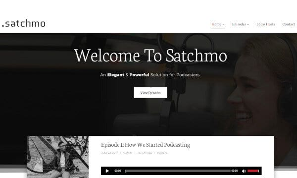 Satchmo Podcast – Multiple Podcasting Plugins WordPress Theme