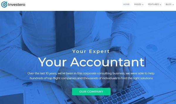 Investero – Sample Data Installer WordPress Theme