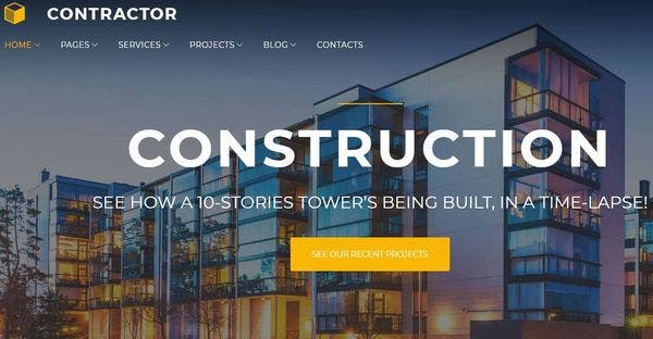 Construction Company – GPL WordPress Theme