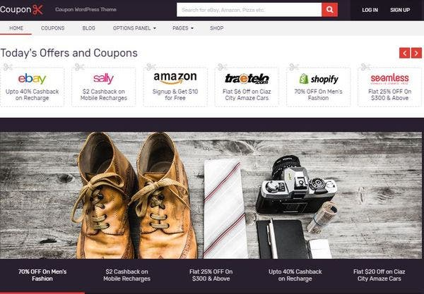 Coupons – SEO Enabled E-Commerce WordPress Theme