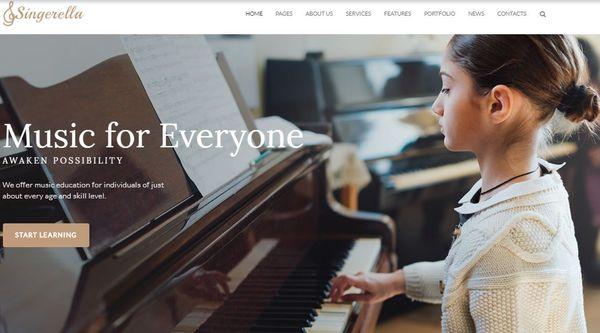 Singerella- Retina-Ready WordPress Theme