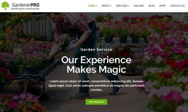 Gardener Pro – Multiple Demo Page WordPress Theme