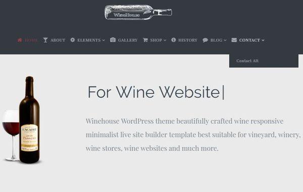 WineHouse – Multiple layout WordPress Theme