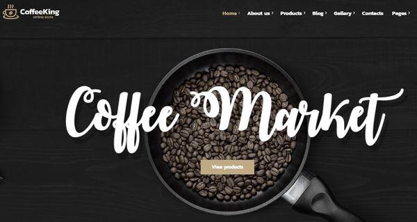 Coffee King - CoffeeShop Menu shortCode Incorporated WordPress Theme