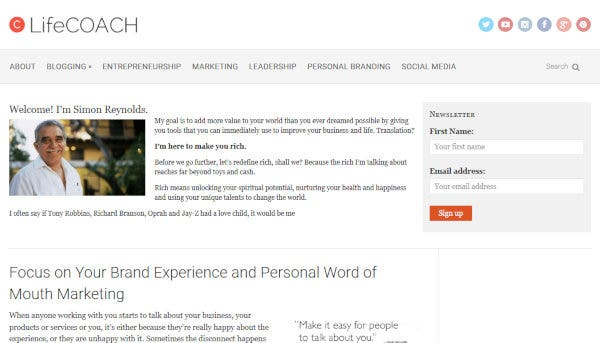 LifeCoach – OpenGraph Integration WordPress Theme