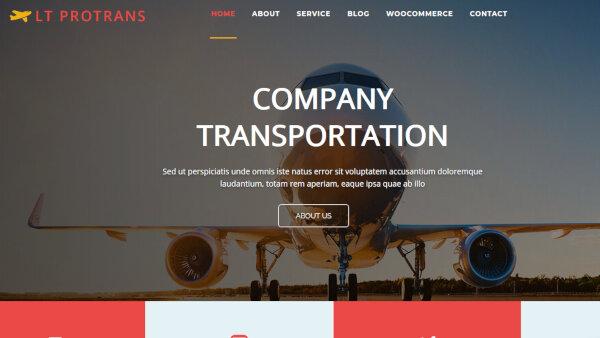 LT ProTrans Onepage – Mobile friendly WordPress Theme