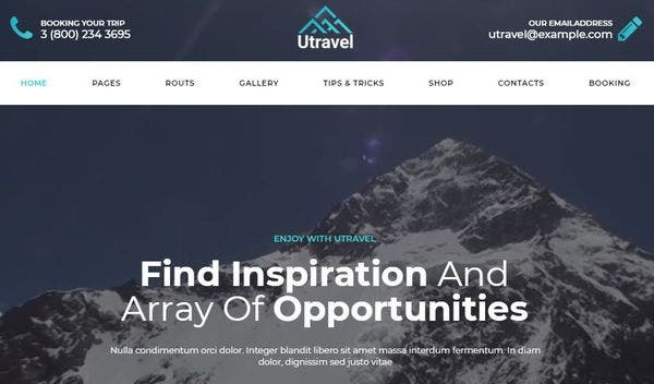 Utravel – Easy Install WordPress Theme