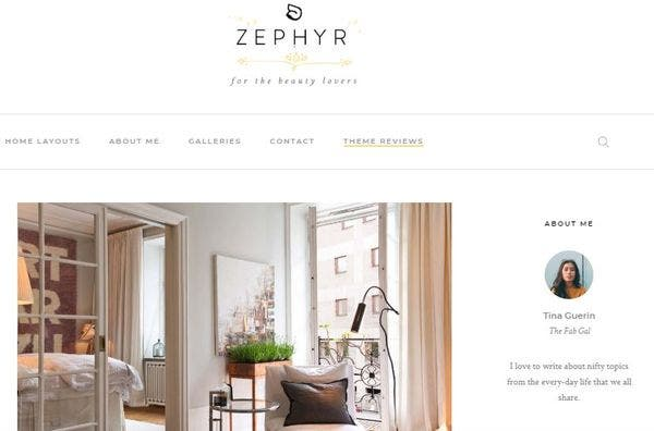 Zephyr – Cross Browser Compatible WordPress Theme