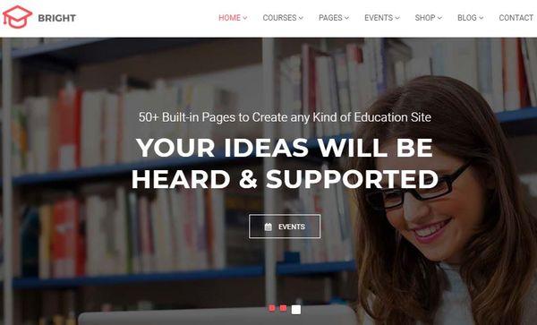 Bright – LearnPress-Integrated WordPress Theme