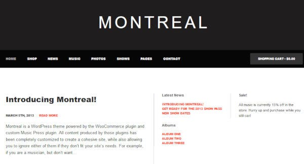 Montreal – Fluid Design WordPress Theme