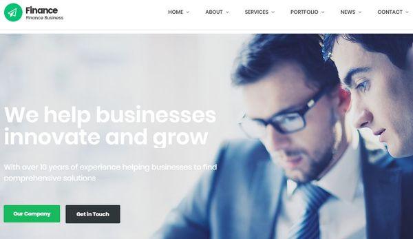 Finance – Retina-ready WordPress Theme