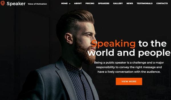 Speaker – Mobile-First WordPress Theme