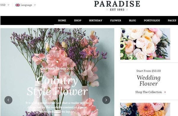 Paradise: WooCommerce-ready WordPress Theme