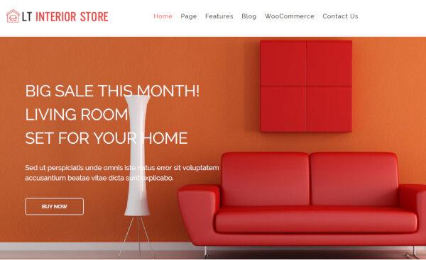 LT Interior Store- Hybrid Framework enabled WordPress Theme