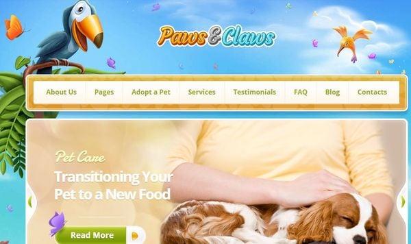 Paws & Claws – Retina Ready WordPress Theme