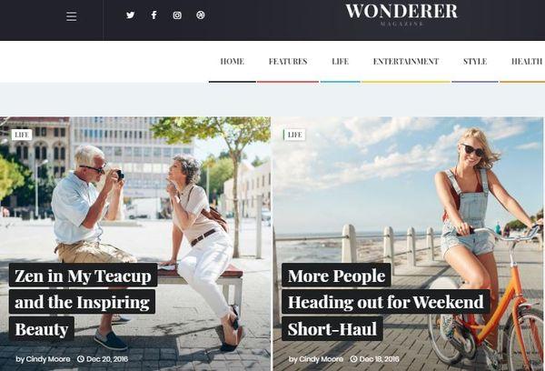Wonderer – Fast Page Loading WordPress Theme