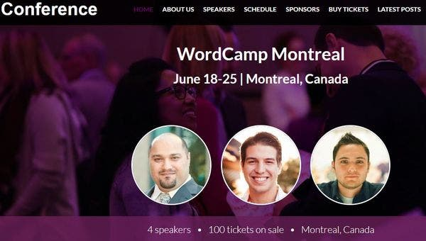 Conference – Easy To Install WordPress Theme