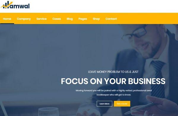 Amwal – Multiple Demo Layouts WordPress Theme