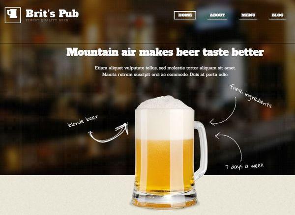 Beer Pub – Ecwid Ready WordPress Theme