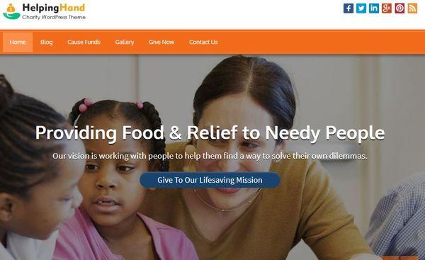 Helping Hand – Custom Menu WordPress Theme