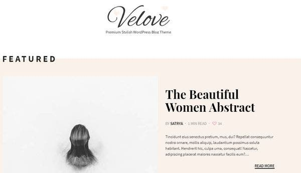 Velove – Predefined Skins WordPress Theme