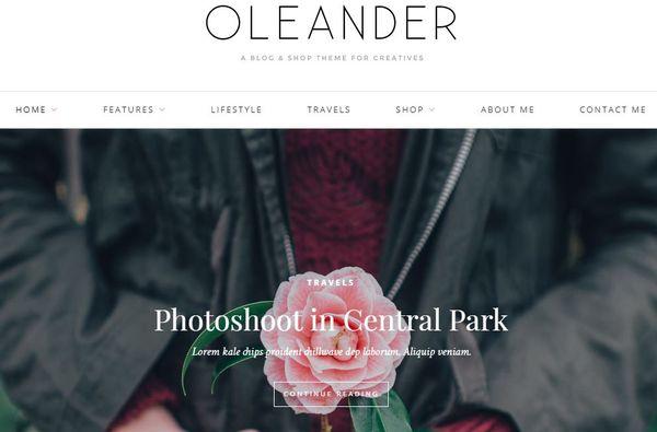 Oleander: Full width slider WordPress Theme
