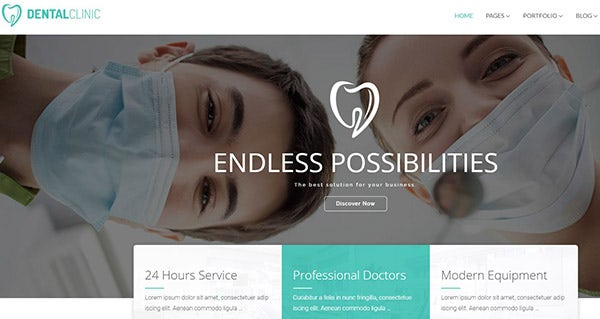 Dental Clinic – CWS Visual Builder WordPress Theme