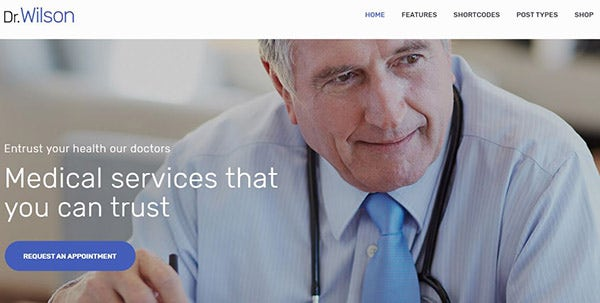 Doctor Wilson– Retina Ready WordPress Theme