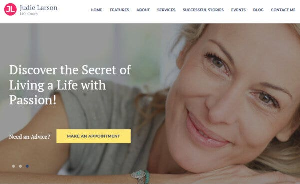 Life Coach and Psychologist - Media Content Manager WordPress Theme